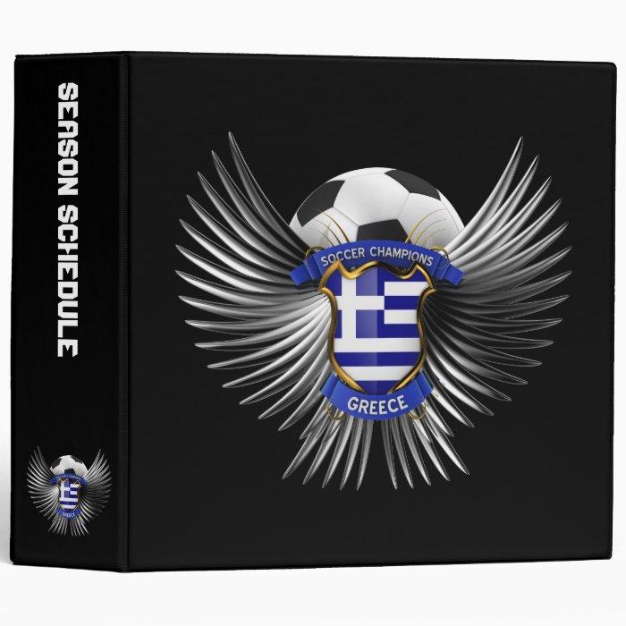 Greece Soccer Champions Binder