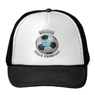 GREECE SOCCER CHAMPIONS HATS