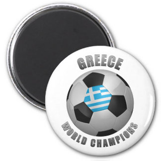 GREECE SOCCER CHAMPIONS 2 INCH ROUND MAGNET