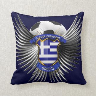 Greece Soccer Champions Pillows