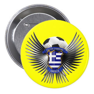 Greece Soccer Champions Pinback Buttons