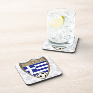 Greece Soccer Drink Coaster