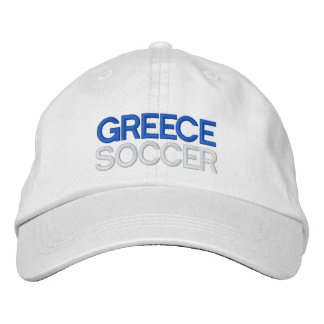 GREECE SOCCER EMBROIDERED BASEBALL CAP