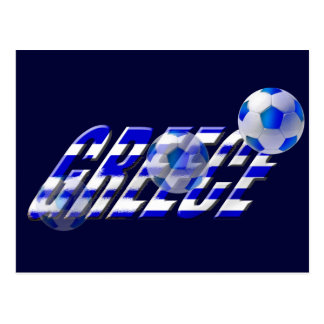 Greece soccer flag of Greece football logo Postcard