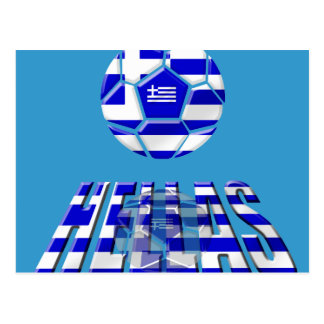 Greece Soccer Hellas Logo Soccer Ball Gifts Postcard