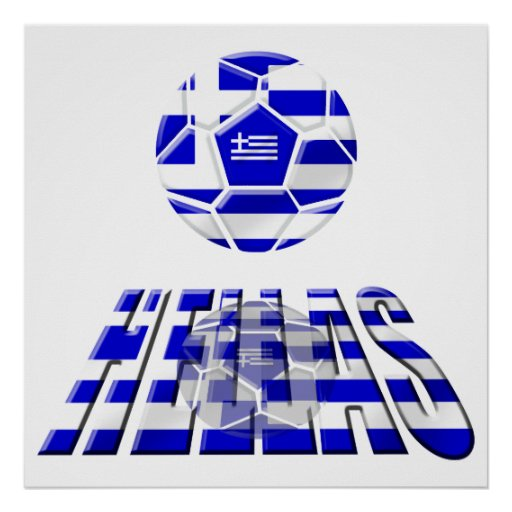 Greece Soccer Hellas Logo Soccer Ball Gifts Posters