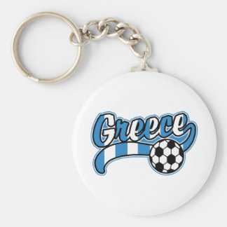 Greece Soccer Key Chains