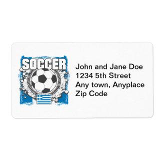 Greece Soccer Label