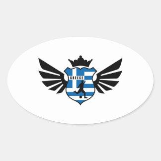 Greece soccer oval sticker