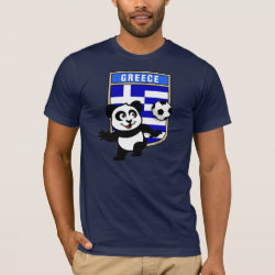 Men's Basic American Apparel T-Shirt with Greece Football Panda design