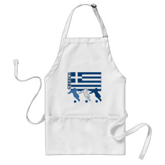 Greece - Soccer Players Adult Apron