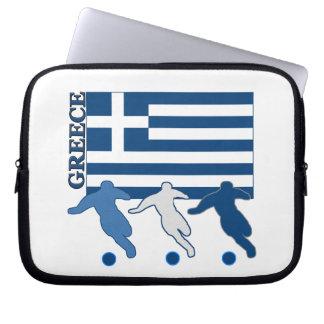 Greece - Soccer Players Laptop Sleeve