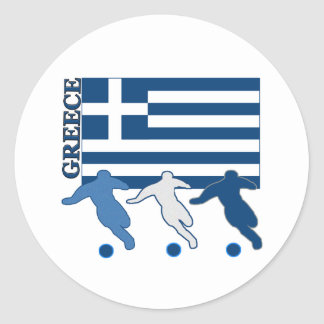 Greece - Soccer Players Classic Round Sticker