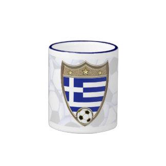 Greece Soccer Ringer Coffee Mug