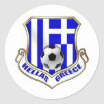 Greece Soccer Shield - Hellas badge Classic Round Sticker