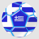 Greece Soccer stickers and Greek flag football