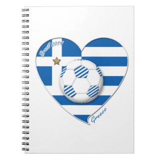 """""""GREECE"""" soccer team. Fútbol Grecia 2014 Football Libros De Apuntes Con Espiral"""