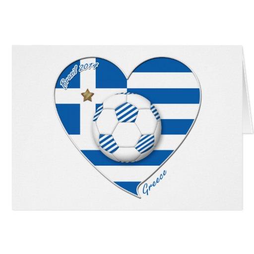 """""""GREECE"""" soccer team. Fútbol Grecia 2014 Football Felicitaciones"""