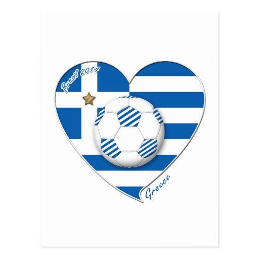 """GREECE"" soccer team. Fútbol Grecia 2014 Football Tarjeta Postal"