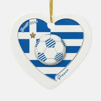 """GREECE"" soccer team. Greece soccer 2014 Football Ceramic Ornament"