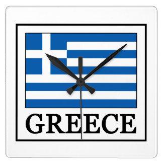 Greece Square Wall Clock