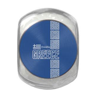 GREECE tins & jars Glass Candy Jars