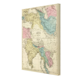 Greece, Turkey, Persia, India Stretched Canvas Prints