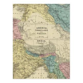 Greece, Turkey, Persia, India Postcard