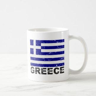Greece Vintage Flag Coffee Mug
