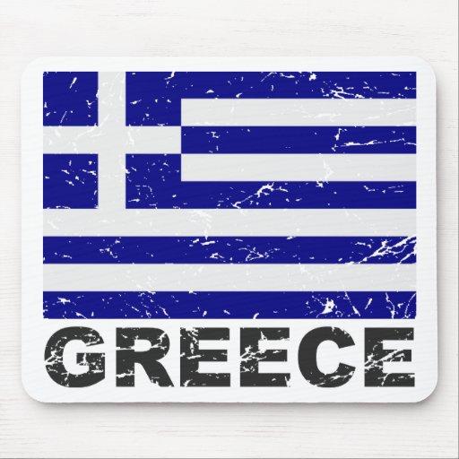 Greece Vintage Flag Mouse Pad