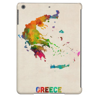 Greece Watercolor Map Case For iPad Air
