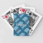 Greece Waving Flag Bicycle Playing Cards