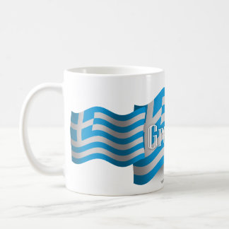 Greece Waving Flag Coffee Mug