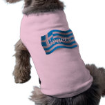 Greece Waving Flag Dog Clothing