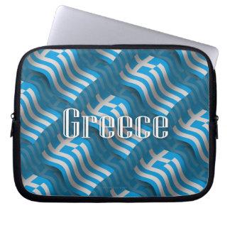 Greece Waving Flag Laptop Sleeve