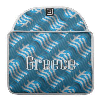 Greece Waving Flag Sleeve For MacBook Pro