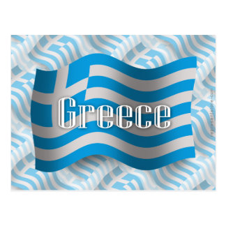 Greece Waving Flag Postcard