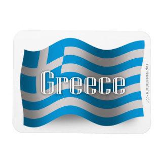 Greece Waving Flag Flexible Magnets