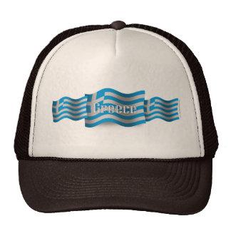Greece Waving Flag Trucker Hat