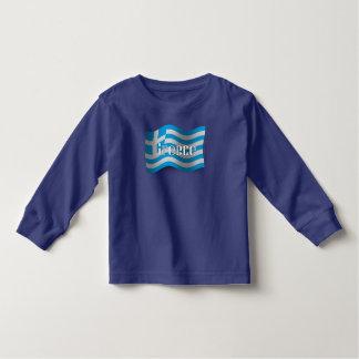 Greece Waving Flag Tee Shirts