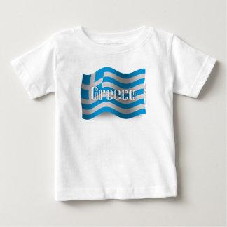 Greece Waving Flag Tee Shirt