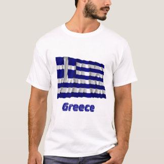 Greece Waving Flag with Name T-Shirt