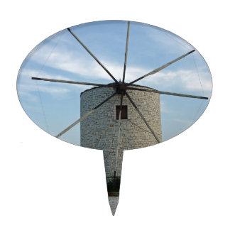 greece windmill cake pick