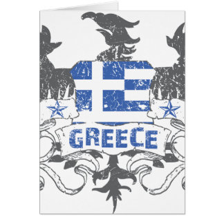 Greece Winged Greeting Card