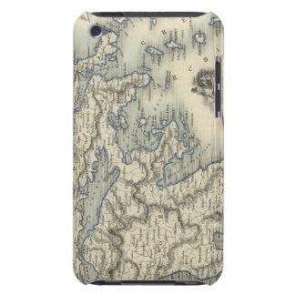 Greece with inset maps of Corfu and Stampalia iPod Case-Mate Case