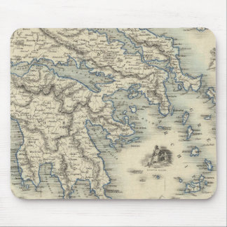 Greece with inset maps of Corfu and Stampalia Mousepad