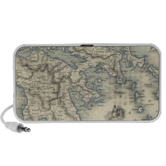 Greece with inset maps of Corfu and Stampalia Laptop Speakers