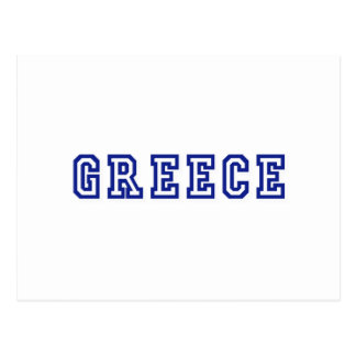 Greece worded logo gifts postcard