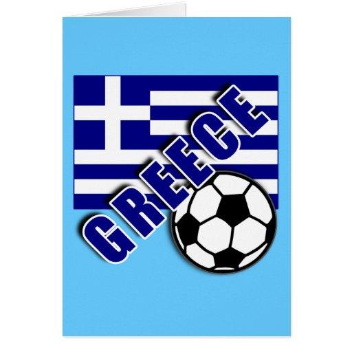 GREECE World Soccer Fan Tshirts Greeting Card