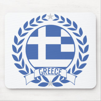 Greece Wreath Mouse Pad